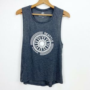 SoulCycle Gray Seattle Logo Muscle Tank Top